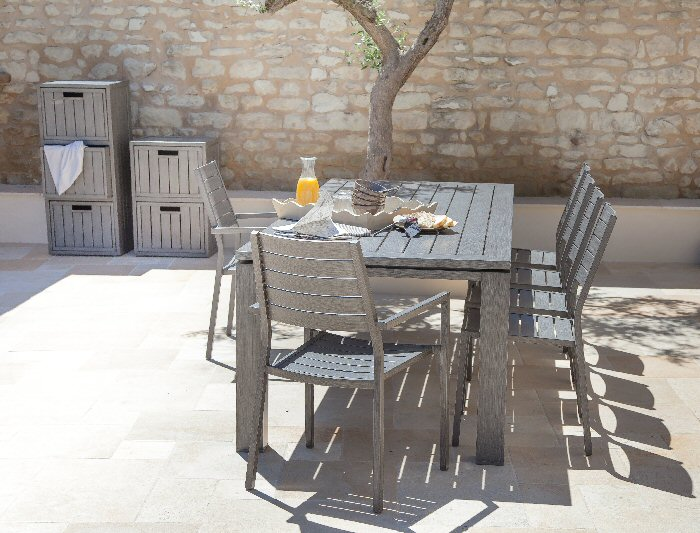 Avis camif sav table et chaises oceo en aluminium am nagement autour de la v randa - Table camif ...